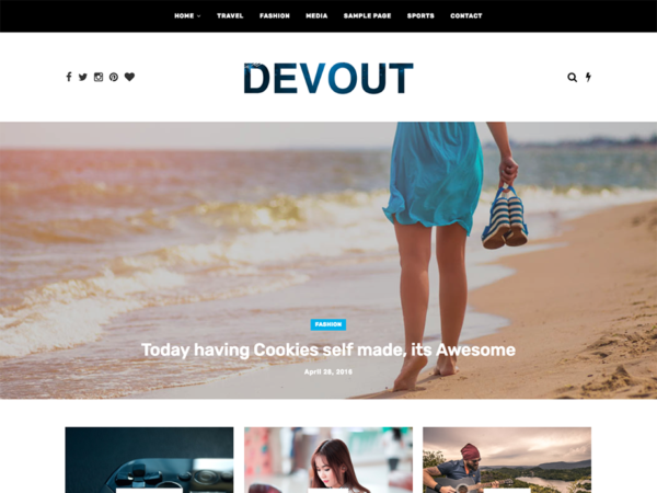 devout personal wordpress theme